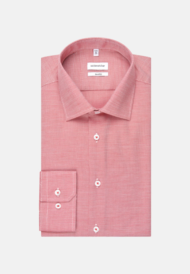 Non-iron Structure Business Shirt in Tailored with Kent-Collar in rot |  Seidensticker Onlineshop