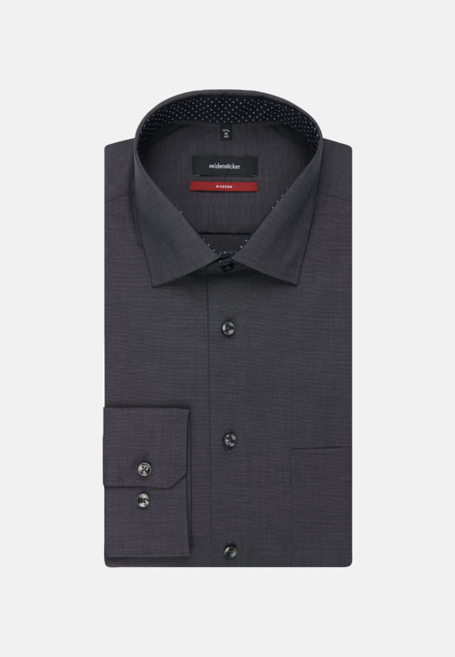 Non-iron Fil a fil Business Shirt in Modern with Kent-Collar in grau |  Seidensticker Onlineshop