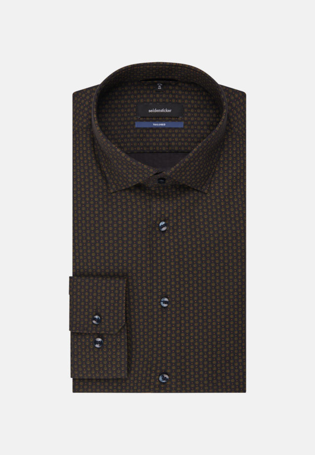 Easy-iron Twill Business Shirt in Tailored with Kent-Collar in anthra |  Seidensticker Onlineshop