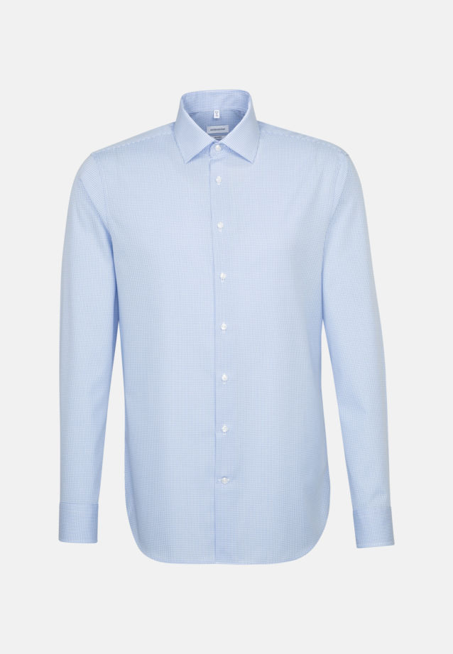 Non-iron Poplin Business Shirt in Tailored with Kent-Collar in hellblau |  Seidensticker Onlineshop