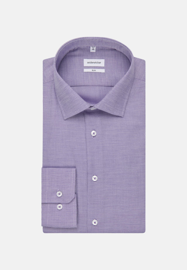 Non-iron Structure Business Shirt in Slim with Kent-Collar in purple |  Seidensticker Onlineshop