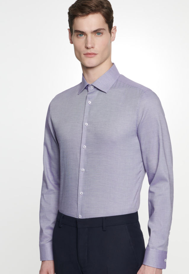 Non-iron Structure Business Shirt in Slim with Kent-Collar in Purple |  Seidensticker Onlineshop
