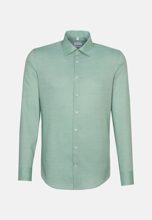 Non-iron Structure Business Shirt in Slim with Kent-Collar in Green |  Seidensticker Onlineshop
