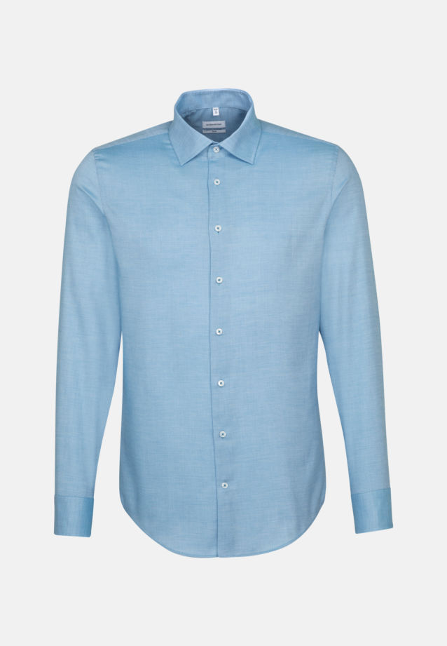 Non-iron Structure Business Shirt in Slim with Kent-Collar in türkis |  Seidensticker Onlineshop