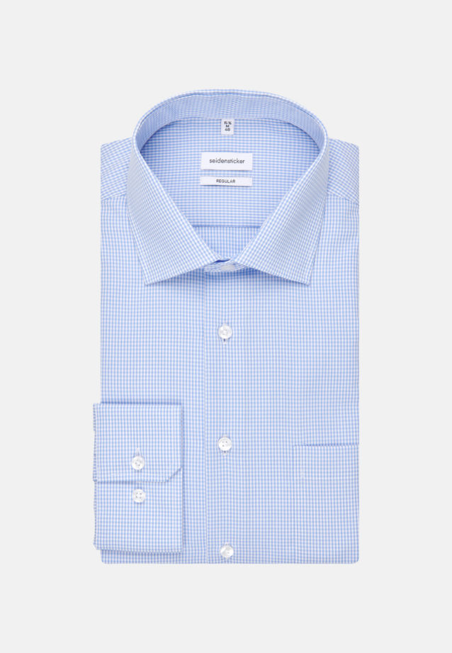 Non-iron Poplin Business Shirt in Modern with Kent-Collar in hellblau |  Seidensticker Onlineshop