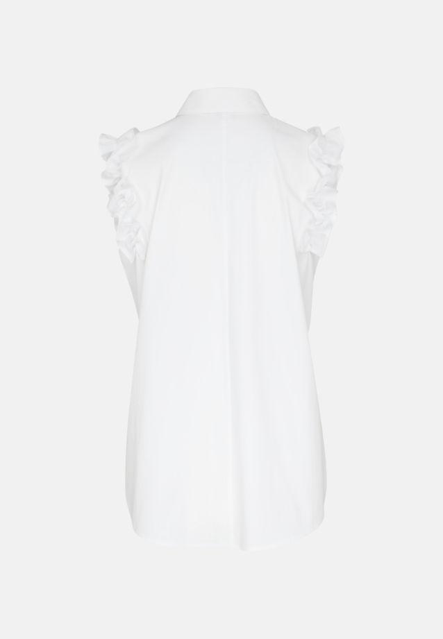 Sleeveless Poplin Shirt Blouse made of 81% Cotton 16% Polyamid/Nylon 3% Elastane in optical white |  Seidensticker Onlineshop
