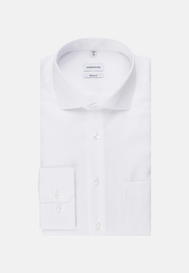 Non-iron Twill Business Shirt in Modern with Kent-Collar in weiß |  Seidensticker Onlineshop