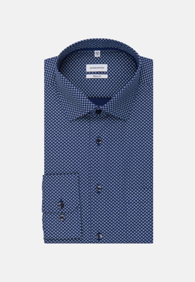 Easy-iron Poplin Business Shirt in Modern with Kent-Collar in Medium blue |  Seidensticker Onlineshop