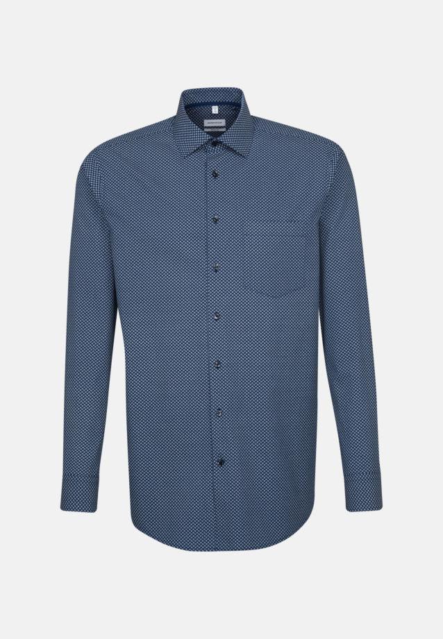 Bügelleichtes Popeline Business Hemd in Modern mit Kentkragen in Mittelblau |  Seidensticker Onlineshop