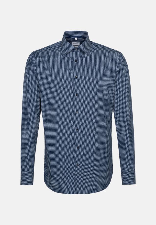 Easy-iron Poplin Business Shirt in X-Slim with Kent-Collar in Medium blue    Seidensticker Onlineshop