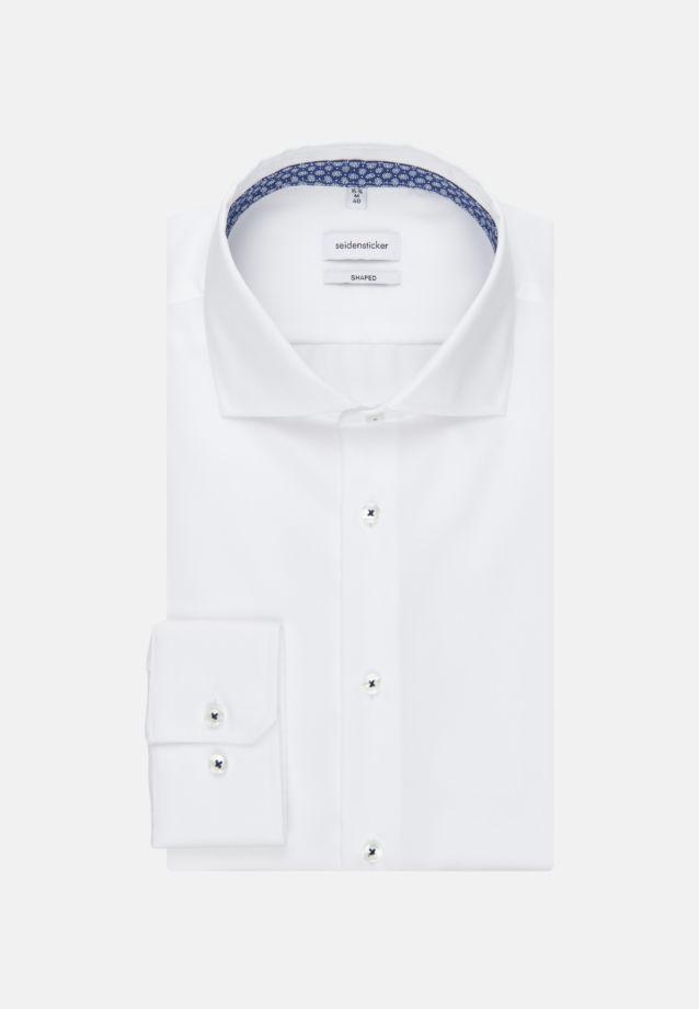Bügelfreies Twill Business Hemd in Tailored mit Kentkragen in Weiß |  Seidensticker Onlineshop
