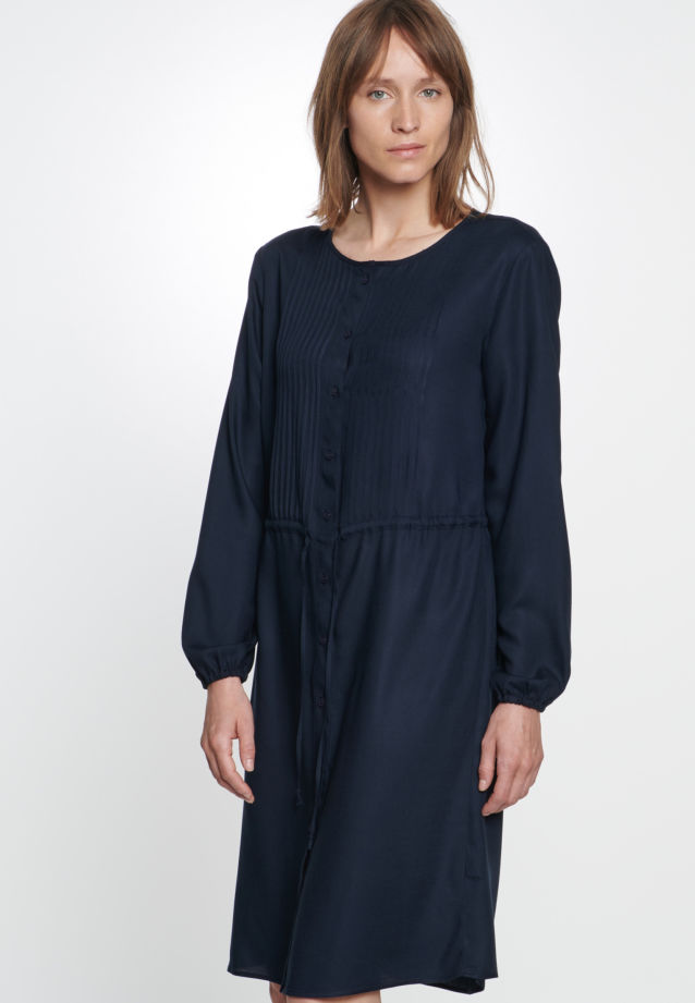 Twill Dress made of 100% Viskose in Dark blue |  Seidensticker Onlineshop