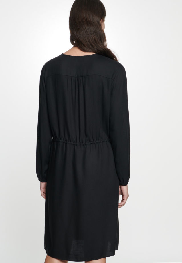 Twill Dress made of 100% Viskose in Black |  Seidensticker Onlineshop