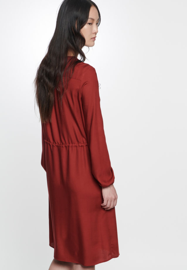 Twill Dress made of 100% Viskose in Red |  Seidensticker Onlineshop