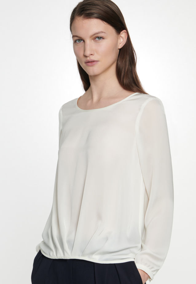Satin Slip Over Blouse made of 100% Polyester in Ecru |  Seidensticker Onlineshop