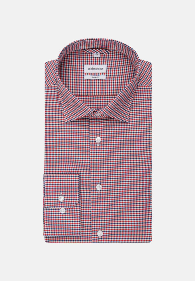 Non-iron Oxford Business Shirt in Shaped with Kent-Collar in Red |  Seidensticker Onlineshop