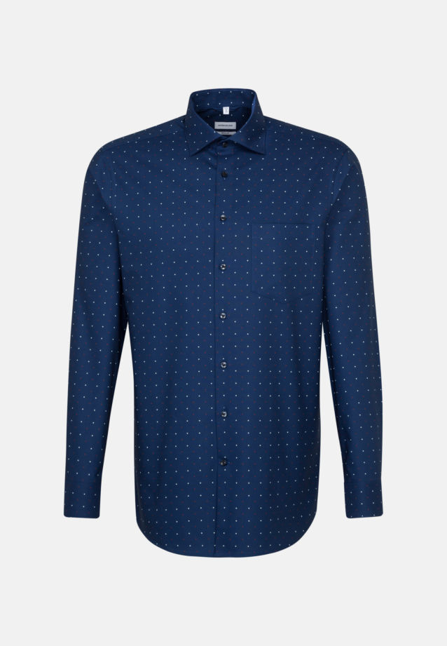 Easy-iron Oxford Business Shirt in Regular with Kent-Collar in Medium blue |  Seidensticker Onlineshop