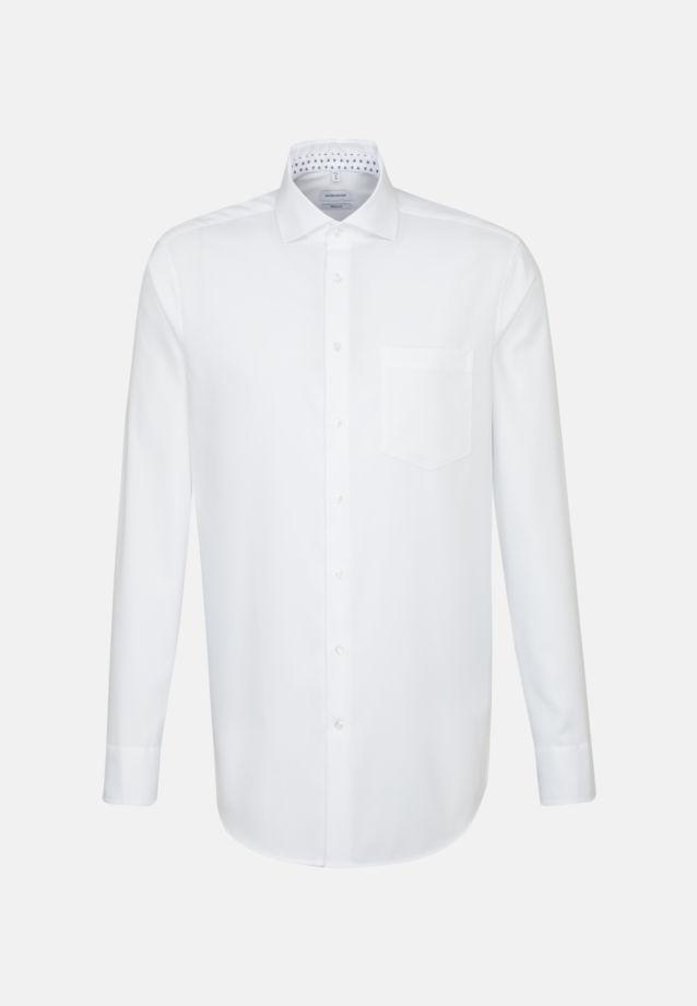 Bügelleichtes Struktur Business Hemd in Modern mit Kentkragen in Weiß |  Seidensticker Onlineshop