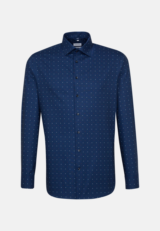 Easy-iron Oxford Business Shirt in Shaped with Kent-Collar in Medium blue |  Seidensticker Onlineshop