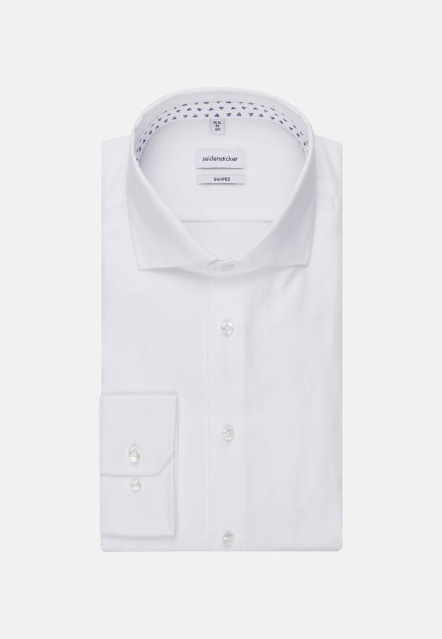 Bügelleichtes Struktur Business Hemd in Tailored mit Kentkragen in Weiß |  Seidensticker Onlineshop