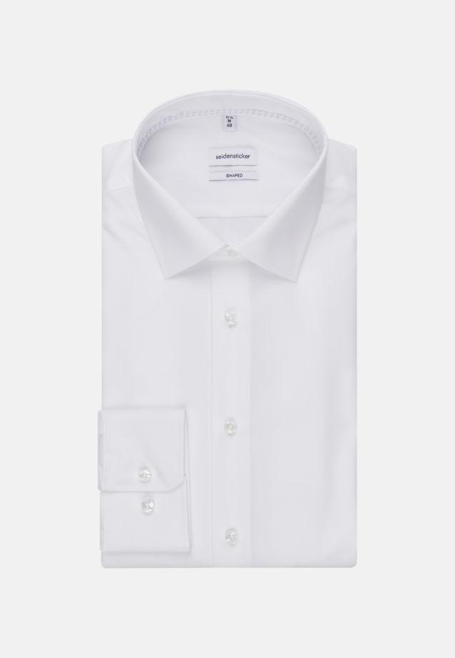 Bügelfreies Popeline Business Hemd in Tailored mit Kentkragen in Weiß |  Seidensticker Onlineshop