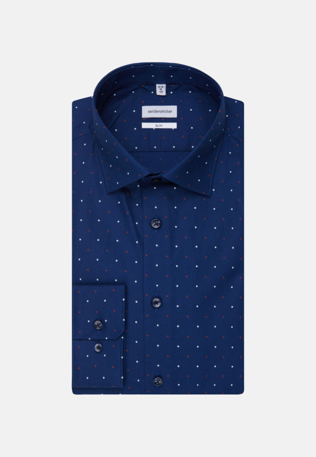 Easy-iron Oxford Business Shirt in Slim with Kent-Collar in Medium blue |  Seidensticker Onlineshop