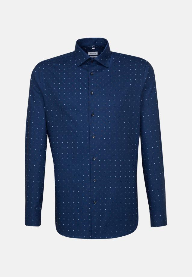 Easy-iron Oxford Business Shirt in Slim with Kent-Collar in Medium blue |  Seidensticker Onlineshop
