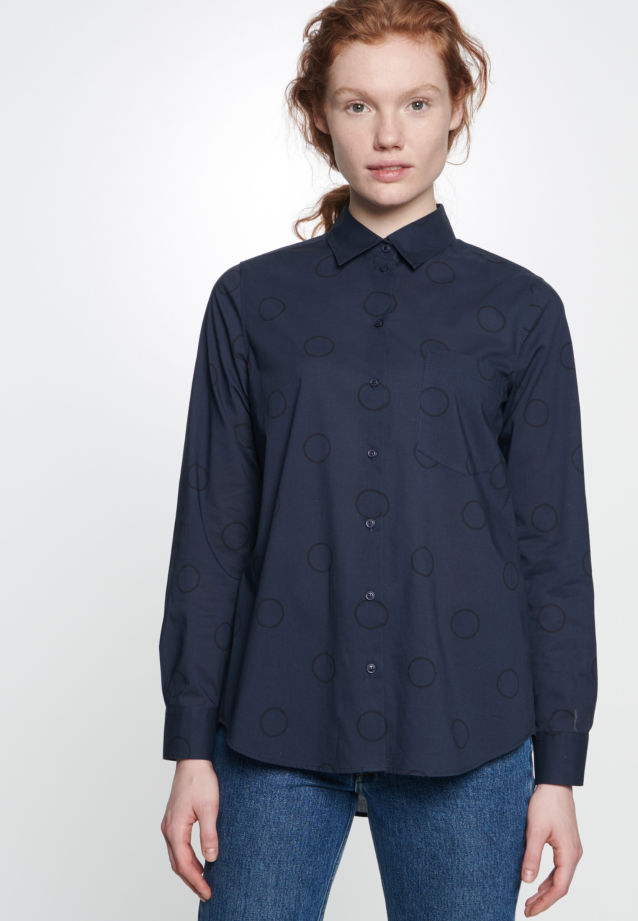 Voile Shirt Blouse made of 100% Cotton in Dark blue |  Seidensticker Onlineshop