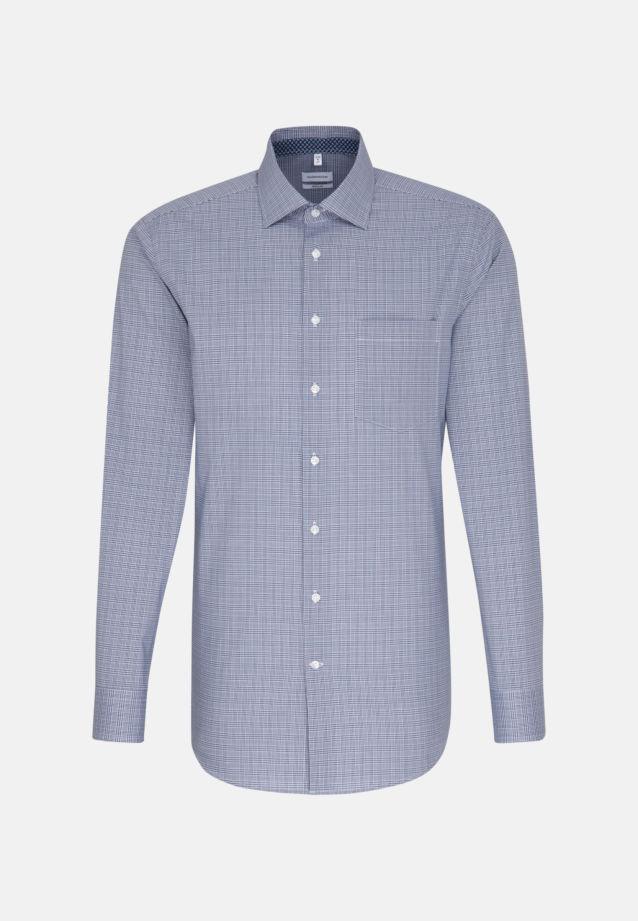 Non-iron Glencheck Business Shirt in Modern with Kent-Collar in Medium blue |  Seidensticker Onlineshop