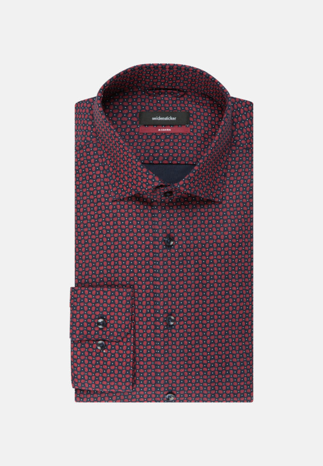Easy-iron Structure Business Shirt in Regular with Kent-Collar in Red |  Seidensticker Onlineshop