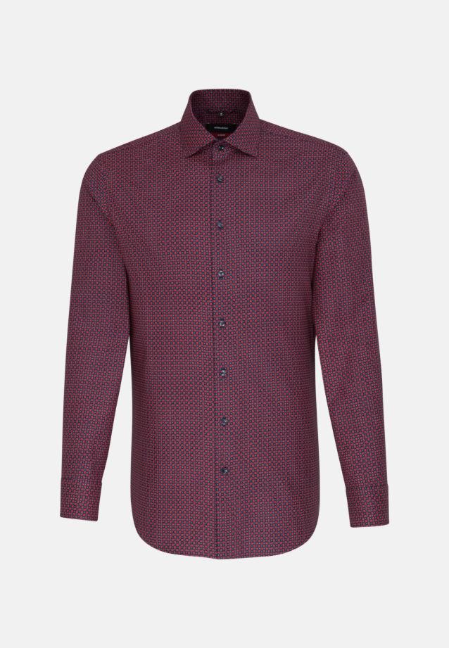 Easy-iron Structure Business Shirt in Modern with Kent-Collar in Dark blue |  Seidensticker Onlineshop