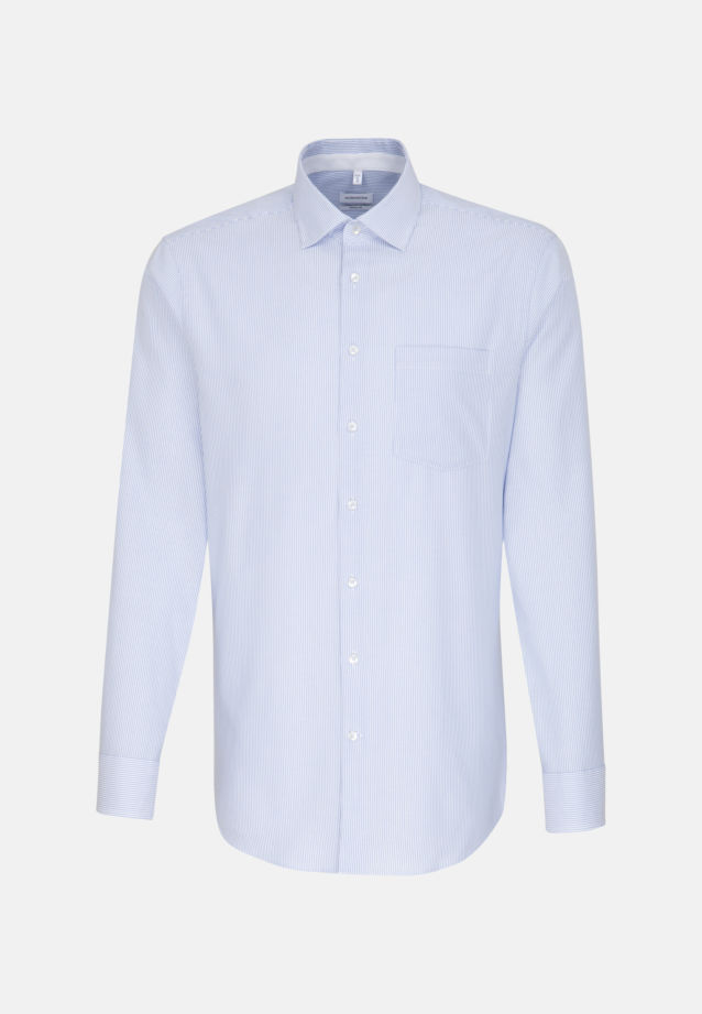 Non-iron Oxford Business Shirt in Modern with Kent-Collar in Light blue |  Seidensticker Onlineshop