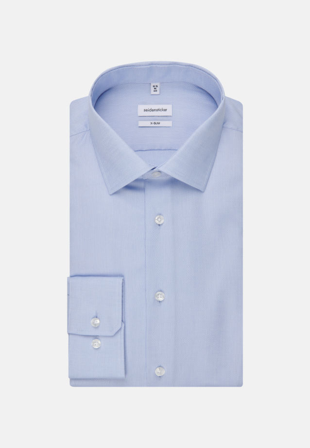 Non-iron Structure Business Shirt in X-Slim with Kent-Collar in Light blue |  Seidensticker Onlineshop