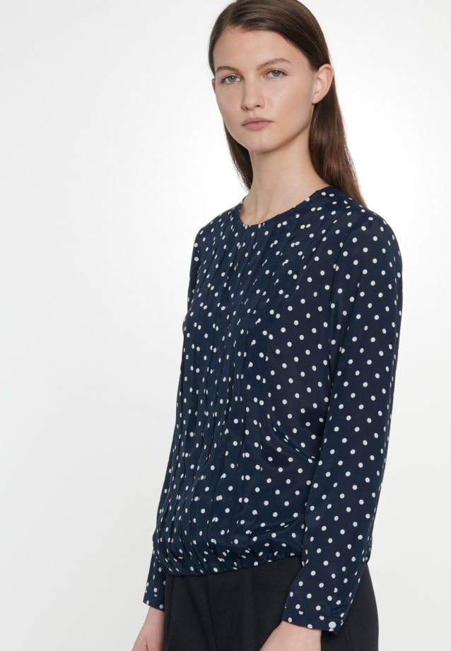 Voile Shirt Blouse made of 100% Viscose in Dark blue |  Seidensticker Onlineshop