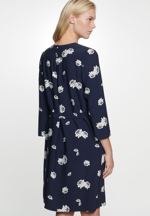 Poplin Midi Dress made of viscose blend in Dark blue |  Seidensticker Onlineshop