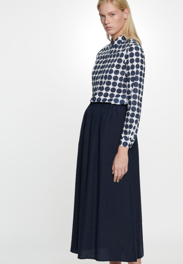 Twill Maxi Skirt made of tencel blend in Dark blue |  Seidensticker Onlineshop