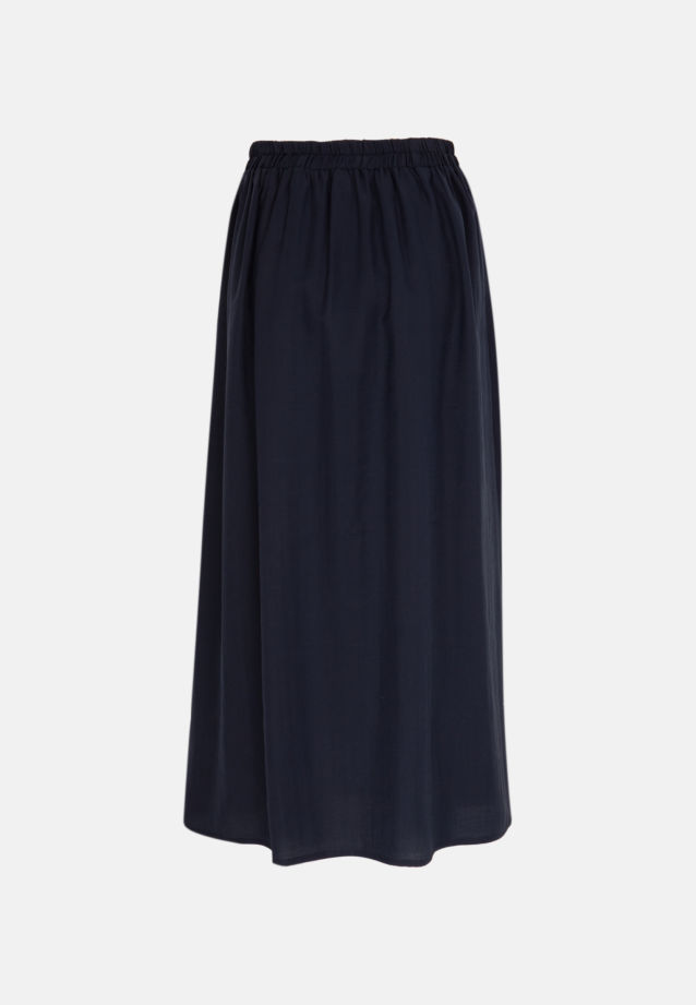 Twill Skirt made of 85% Lyocell 15% Polyethylen in Dark blue |  Seidensticker Onlineshop