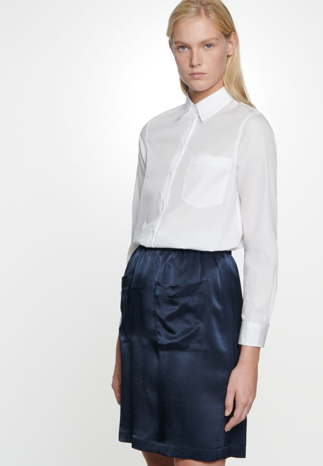 Crepe Skirt made of 86% Rayon 14% Polyethylen in Dark blue |  Seidensticker Onlineshop