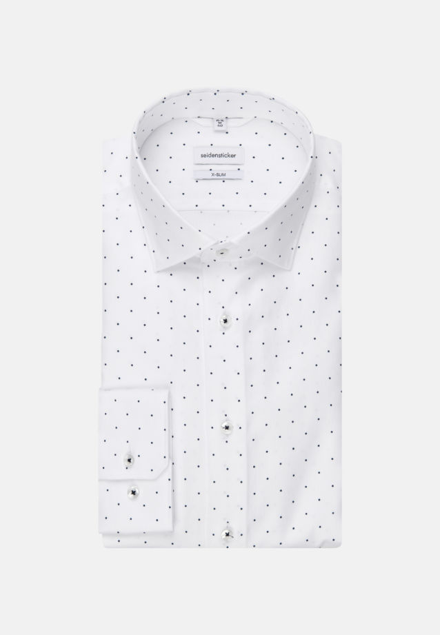 Easy-iron Structure Business Shirt in X-Slim with Kent-Collar in White |  Seidensticker Onlineshop