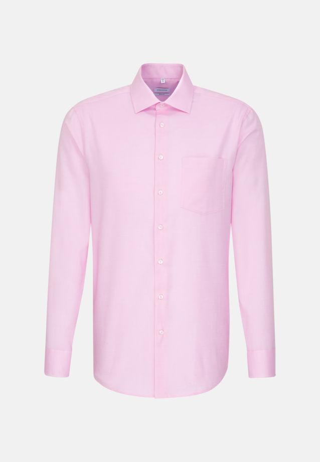 Bügelfreies Struktur Business Hemd in Regular mit Kentkragen in Rosa/Pink |  Seidensticker Onlineshop