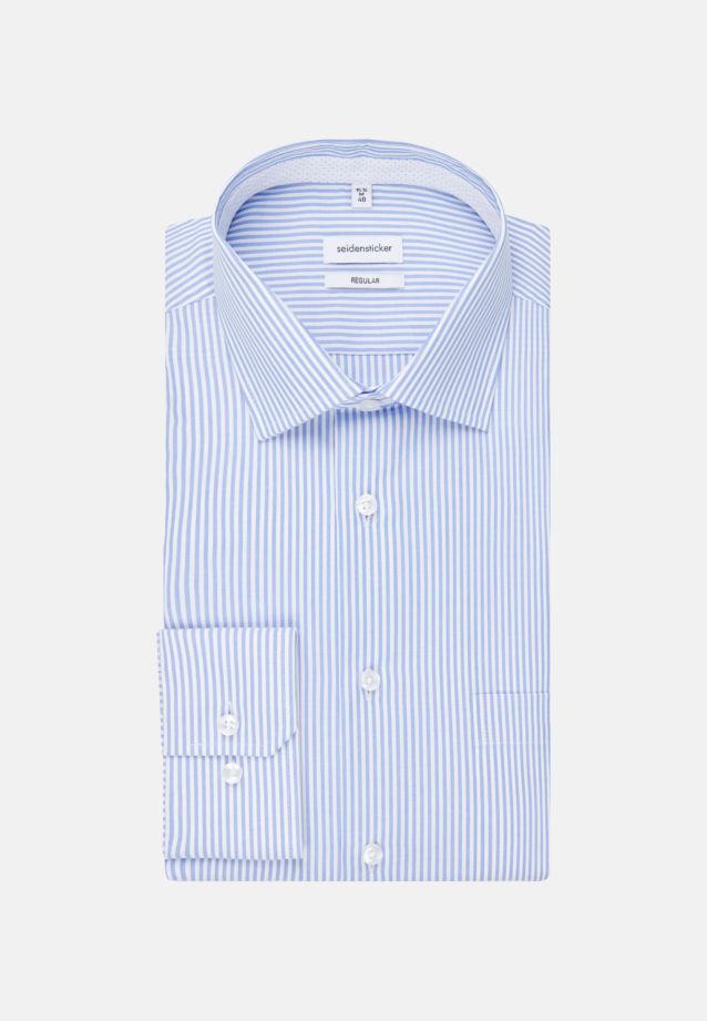 Non-iron Poplin Business Shirt in Modern with Kent-Collar in Light blue |  Seidensticker Onlineshop