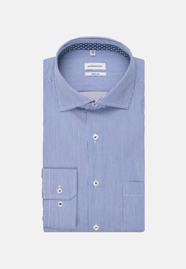 Easy-iron Twill Business Shirt in Modern with Kent-Collar in Medium blue |  Seidensticker Onlineshop