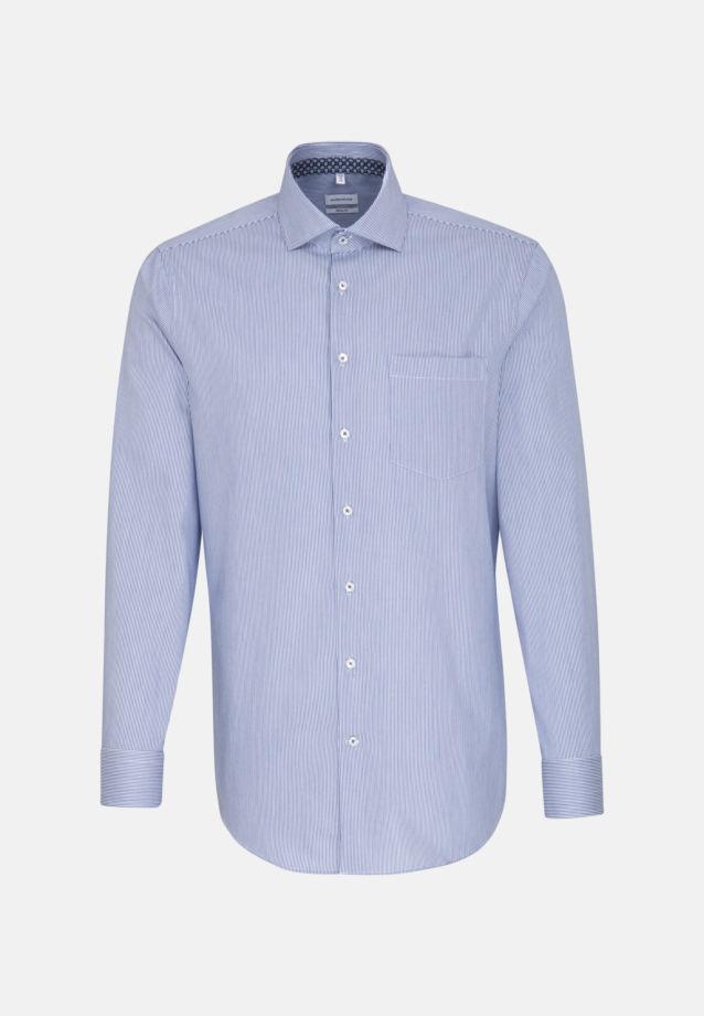 Bügelleichtes Twill Business Hemd in Modern mit Kentkragen in Mittelblau |  Seidensticker Onlineshop