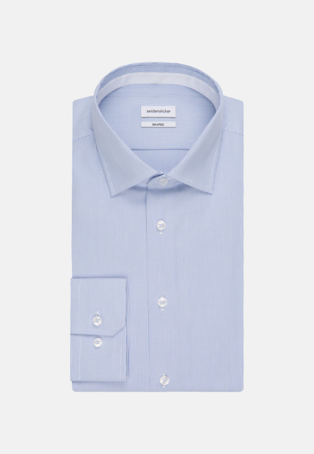 Non-iron Oxford Business Shirt in Tailored with Kent-Collar in Light blue |  Seidensticker Onlineshop