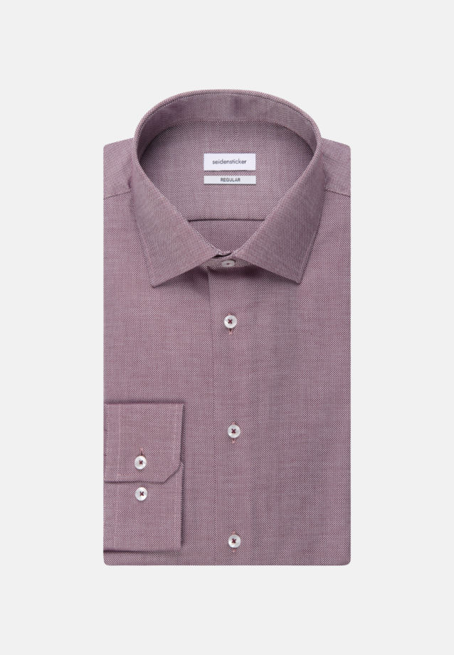 Non-iron Structure Business Shirt in Regular with Kent-Collar in Rot |  Seidensticker Onlineshop