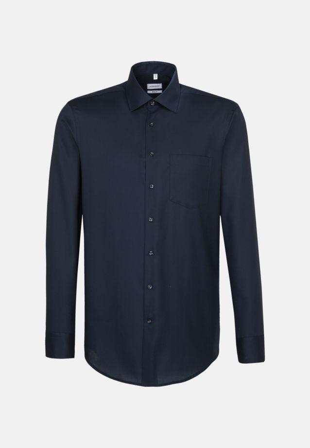 Non-iron Structure Business Shirt in Modern with Kent-Collar in Dark blue |  Seidensticker Onlineshop