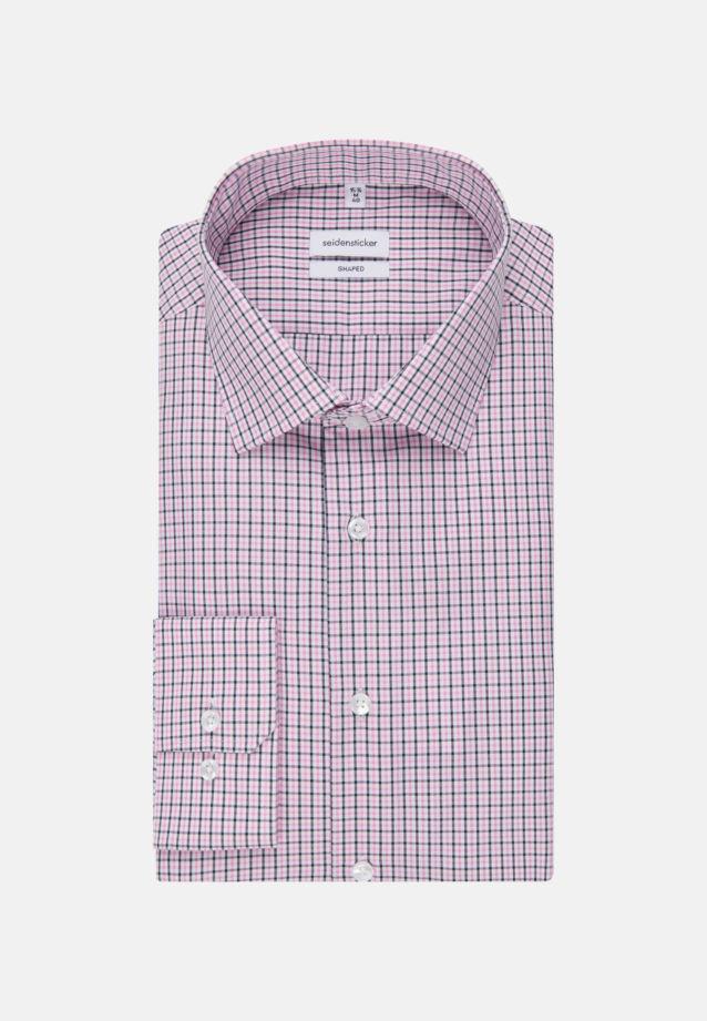 Non-iron Poplin Business Shirt in Tailored with Kent-Collar in Pink |  Seidensticker Onlineshop