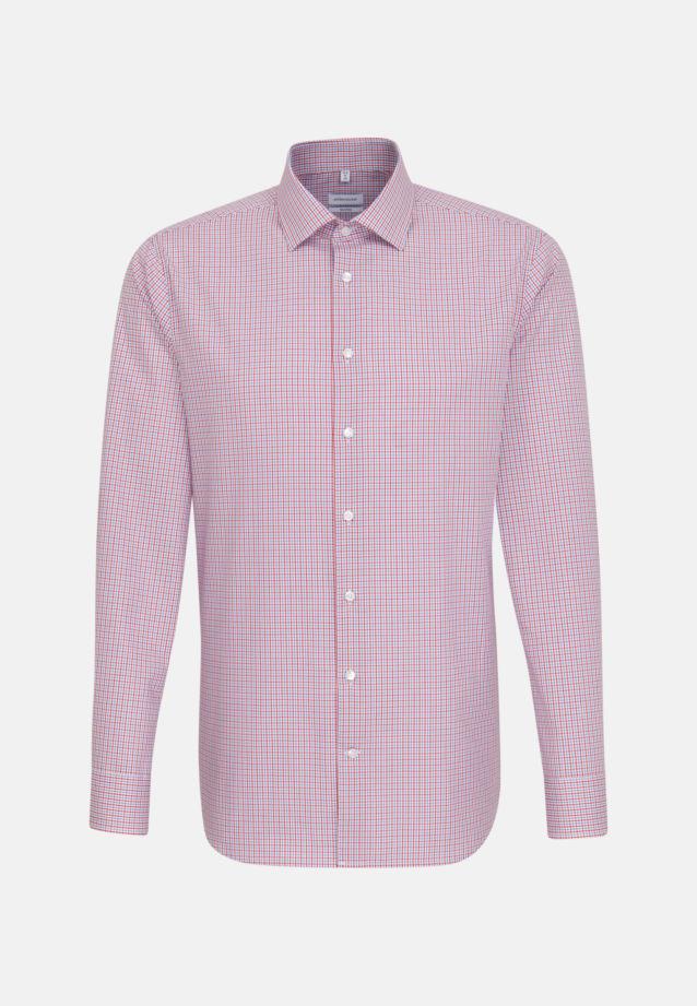 Non-iron Poplin Business Shirt in Tailored with Kent-Collar in Red |  Seidensticker Onlineshop