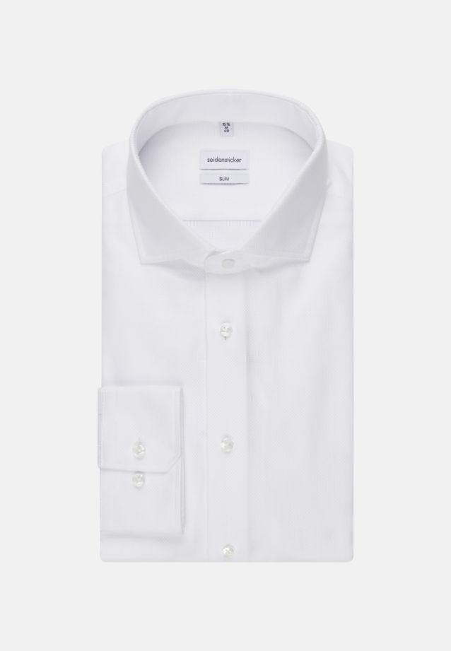 Easy-iron Structure Business Shirt in Slim with Kent-Collar in White |  Seidensticker Onlineshop