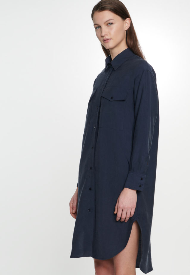 Twill Midi Dress made of tencel blend in Dark blue |  Seidensticker Onlineshop